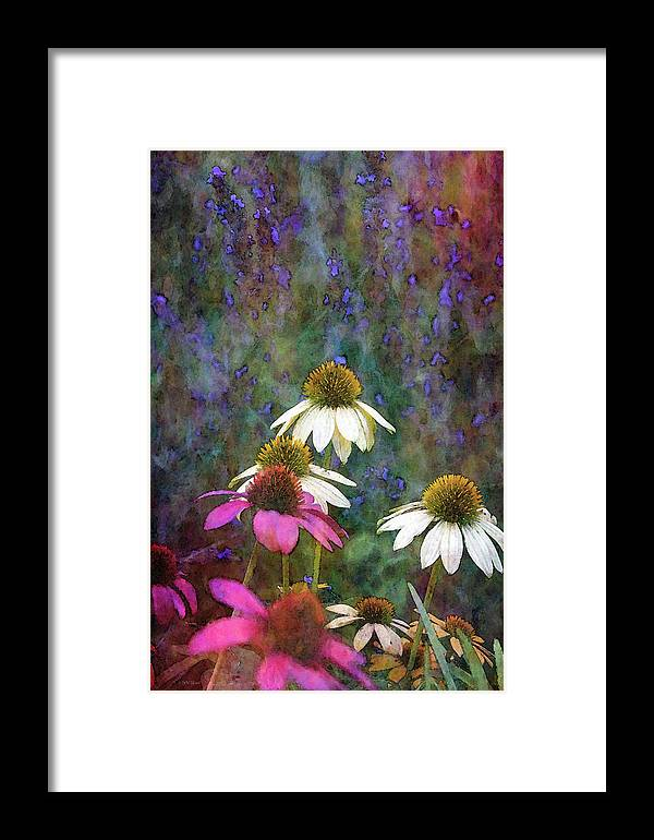 Impressionist Framed Print featuring the photograph Lavender And Cones 1636 Idp_2 by Steven Ward