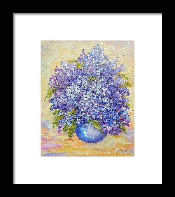 Plants Framed Print featuring the painting Lavender by Caroline Patrick
