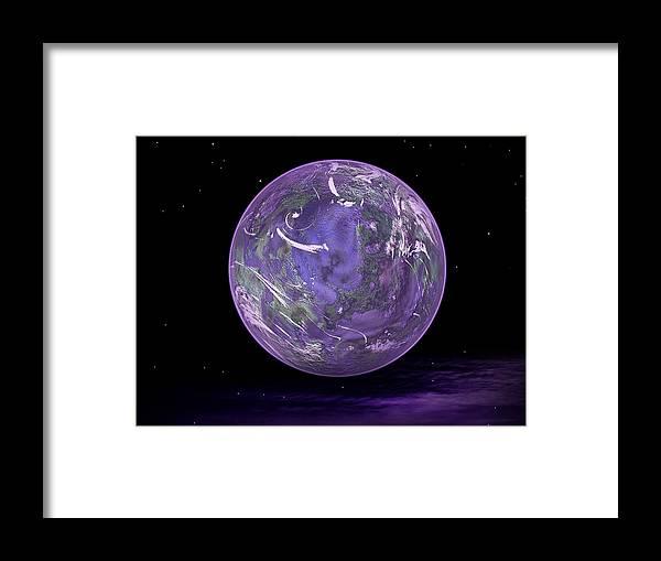 Lavender Framed Print featuring the digital art Lavender Dreams by Juana Maria Garcia-Domenech