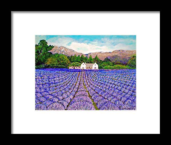 Lavender Framed Print featuring the painting Lavender Fields by Michael Durst