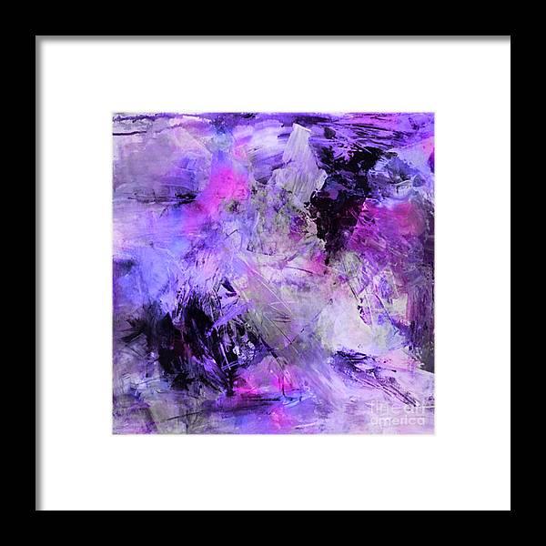 Lavender Gardens Framed Print featuring the digital art Lavender Gardens by Beverly Guilliams
