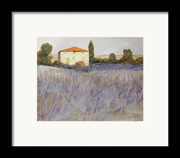Lavender Framed Print featuring the painting Lavender by Guido Borelli
