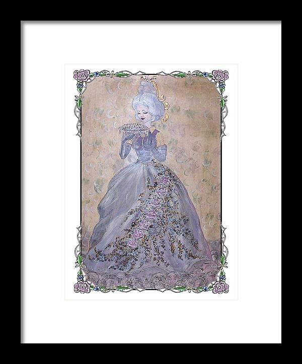 Still Life Framed Print featuring the painting Lavender Lady by Phyllis Mae Richardson Fisher