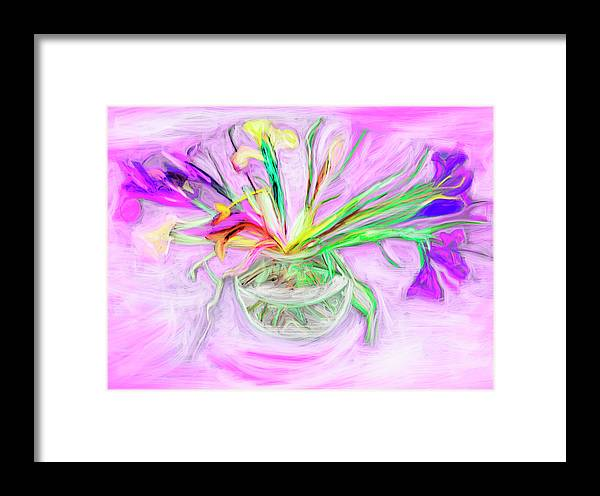 Orchids Painting Framed Print featuring the painting Lavender Orchids Painting by Don Wright