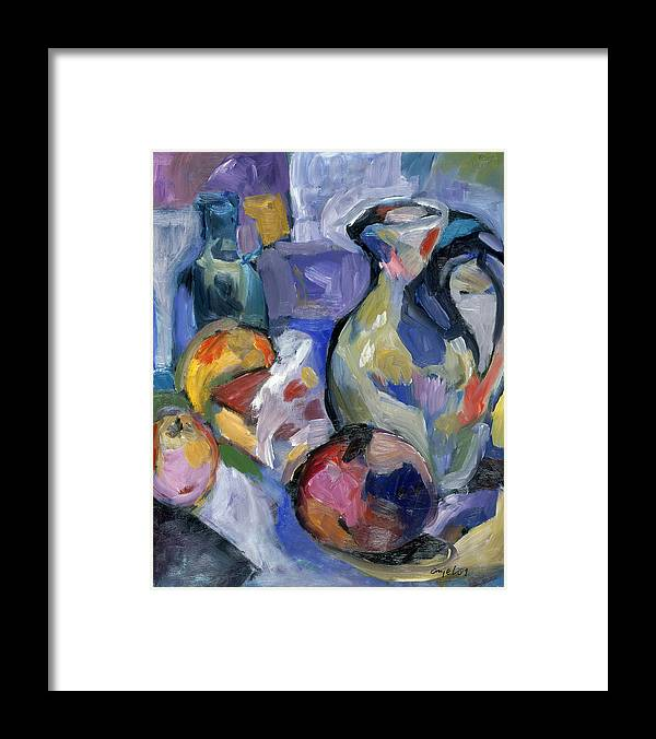 Still Life Framed Print featuring the painting Lavender Stillyf by Mykul Anjelo