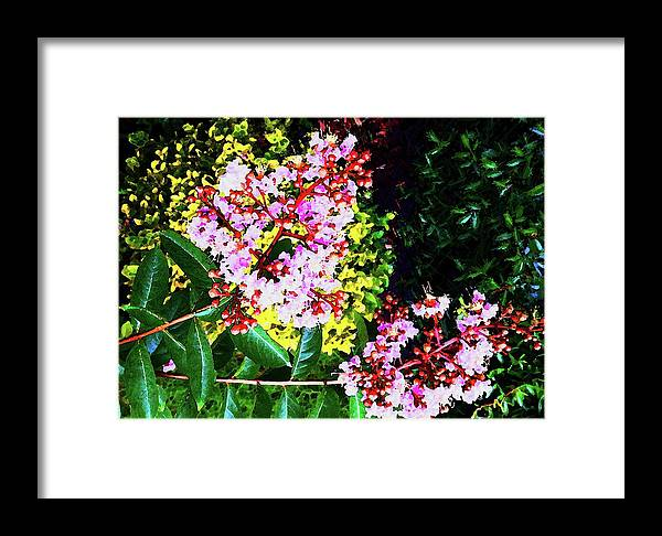Lavender Framed Print featuring the digital art Lavender Upon Gold by Ronald Irwin