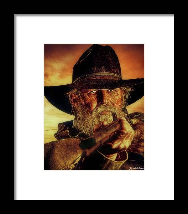 Man Framed Print featuring the digital art Lawman by Rick Wiles