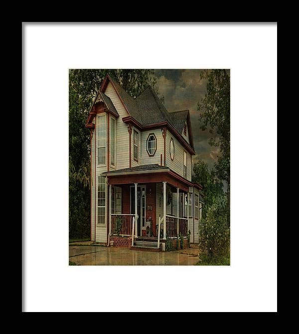 Architecture Framed Print featuring the photograph Lawton Home by Sherry Adkins