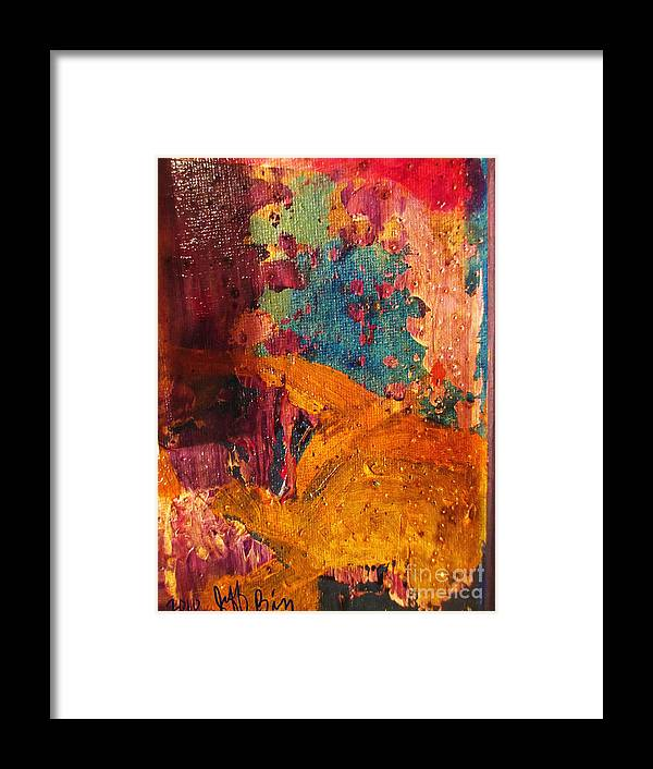 Abstract Framed Print featuring the painting Layers # 23 by Jeff Birr