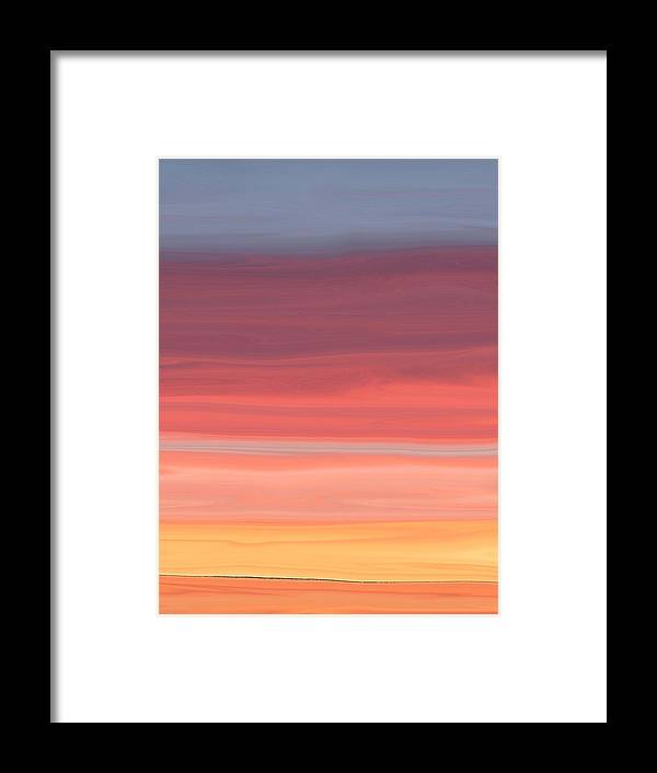 Contemporary Framed Print featuring the digital art Layers by Florene Welebny