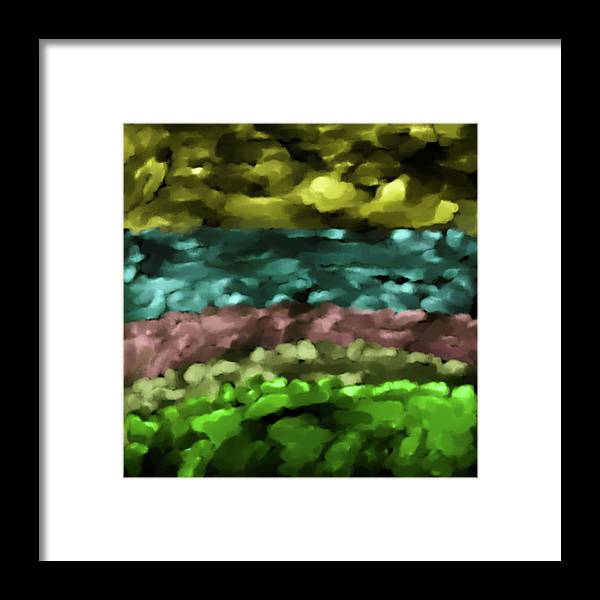 Abstract Framed Print featuring the digital art Layers #g8 by Leif Sohlman