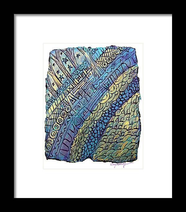 Abstract Framed Print featuring the painting Layers Of Our Lives by Wayne Potrafka