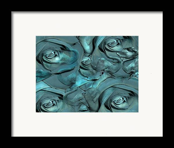 Roses Framed Print featuring the digital art Layers by Sabine Stetson