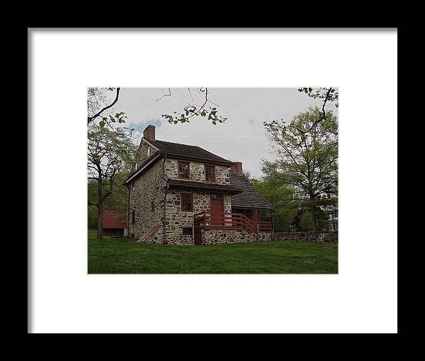 Historic Framed Print featuring the photograph Layfayette's Headquarters At Brandywine by Gordon Beck