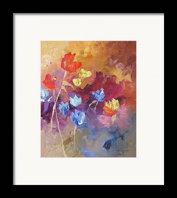 Original Framed Print featuring the painting Lazy Afternoon by Linda Monfort