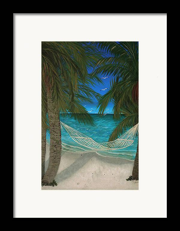 Hammock Framed Print featuring the painting Lazy Days Of Summer by Darlene Green