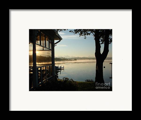 Breton Bay Framed Print featuring the photograph Lazy Morning On The Bay by PJ Cloud