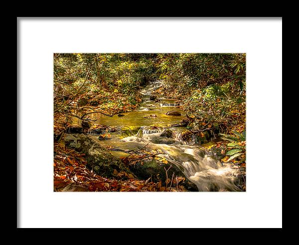 Mountain Waterfall Framed Print featuring the photograph Lazy Mountain Water Fall by Larry Jones