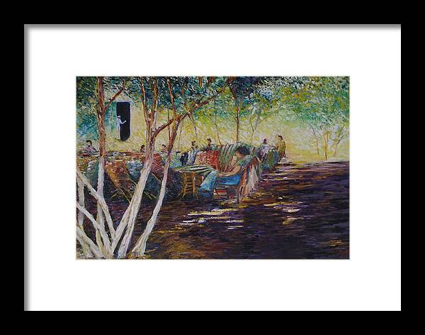 Lifestyle Framed Print featuring the painting Lazy Sunday Afternoon - Cairo by Wendy Chua