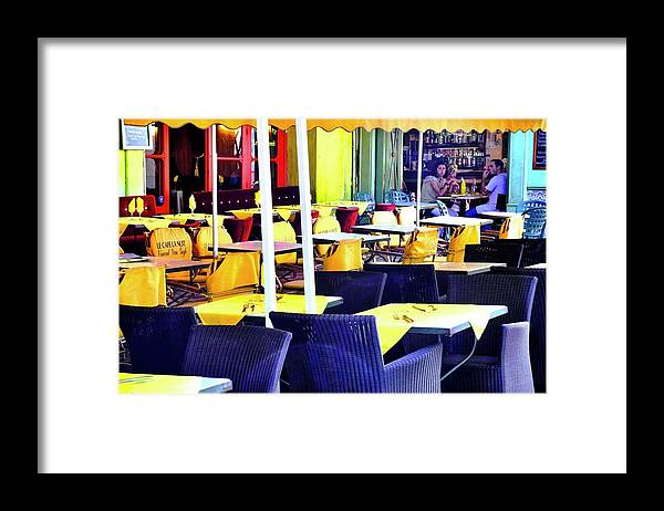 Le Cafe La Nuit Framed Print featuring the photograph le Cafe la Nuit in Arles by Kirsten Giving