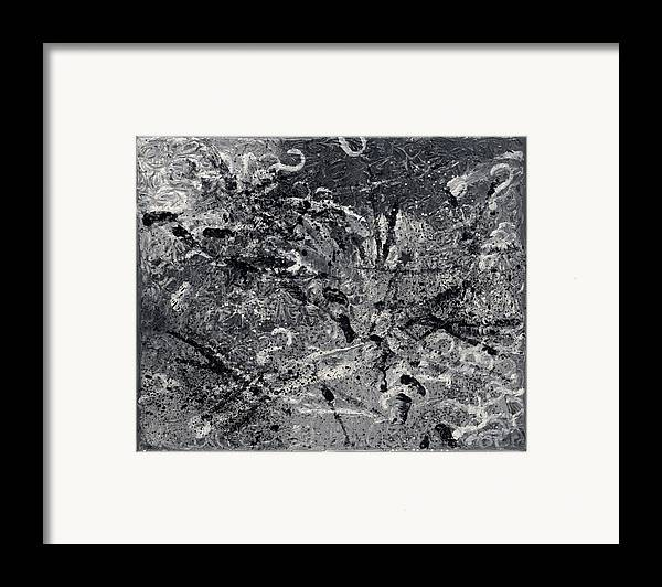 Abstract Framed Print featuring the painting Le Chemin by Dominique Boutaud