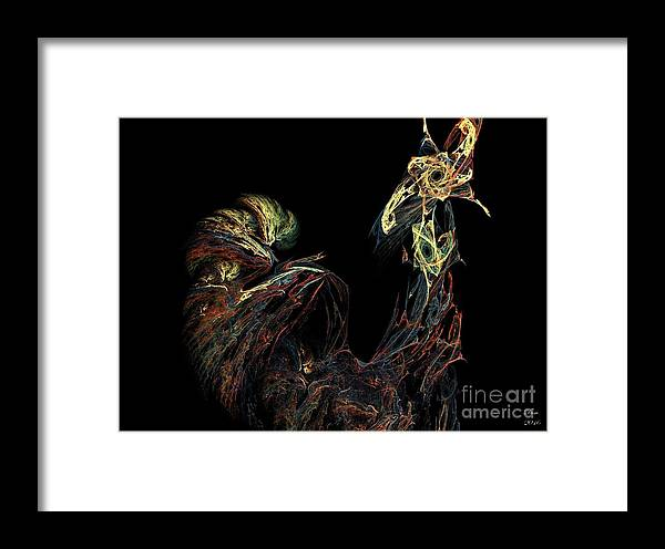 Coq Framed Print featuring the digital art Le Coq by Dom Creations