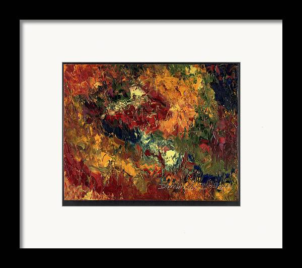 Abstract Framed Print featuring the painting Le Feu Et La Vie 3 by Dominique Boutaud