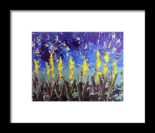 Flowers Framed Print featuring the painting Le Fleur by Paul Sandilands