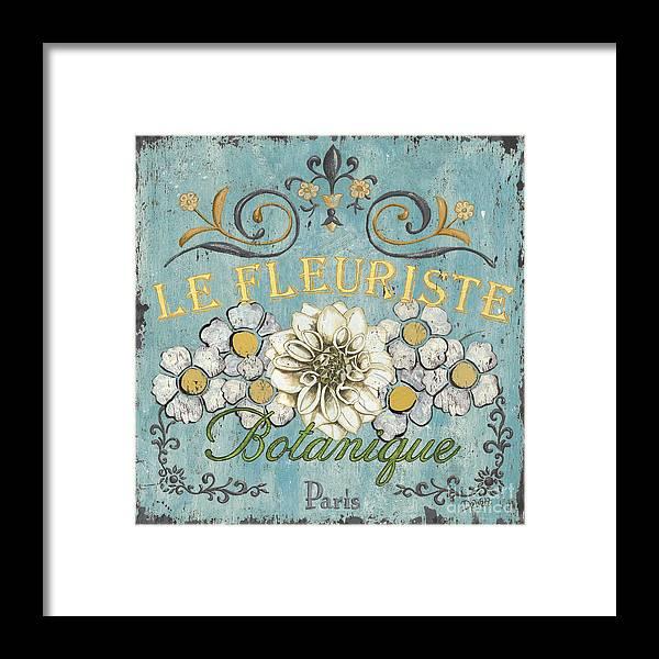 Flowers Framed Print featuring the painting Le Fleuriste De Botanique by Debbie DeWitt