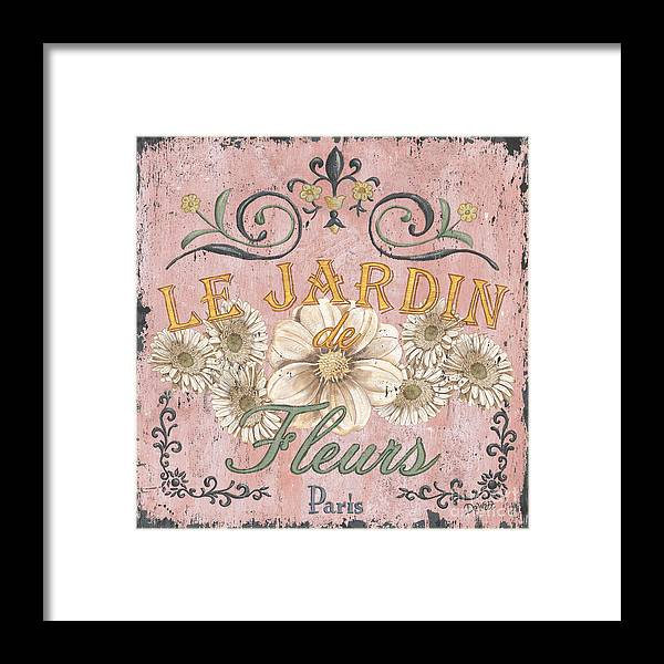 Le Jardin Framed Print featuring the painting Le Jardin 1 by Debbie DeWitt