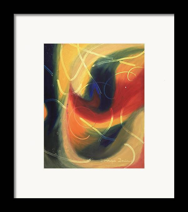 Abstract Framed Print featuring the painting Le Livre D by Dominique Boutaud