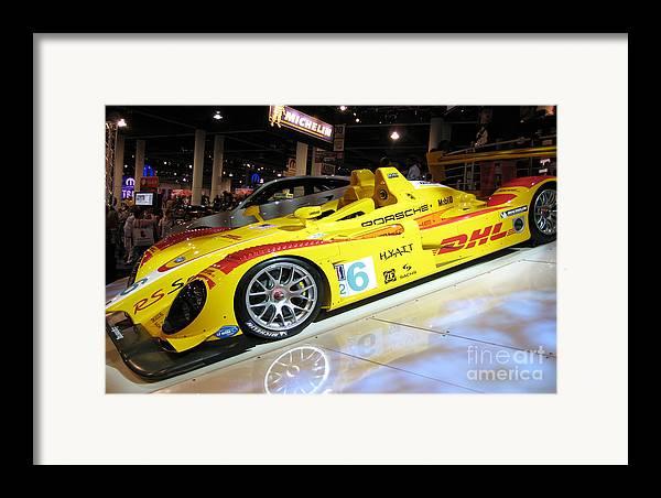 Porcsche Framed Print featuring the photograph Le Mans Porsche by Antique Hero