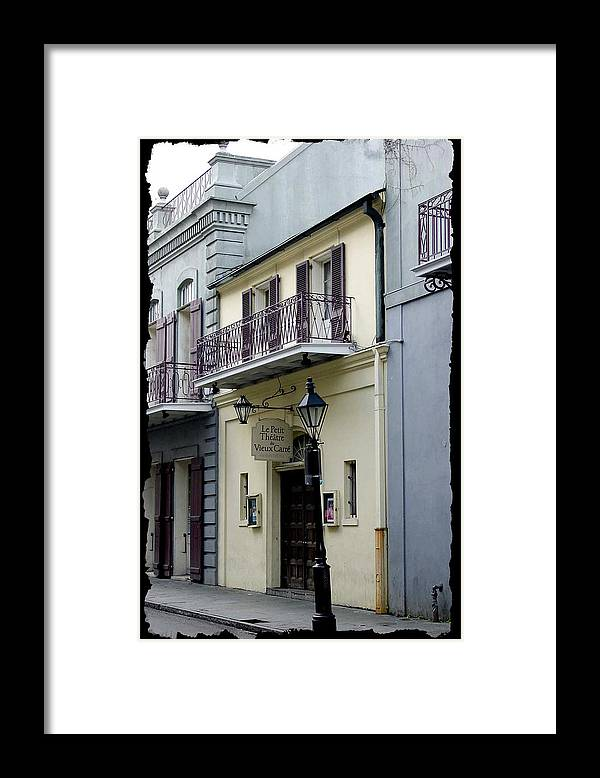 New Orleans Framed Print featuring the photograph Le Petit Theatre by Linda Kish