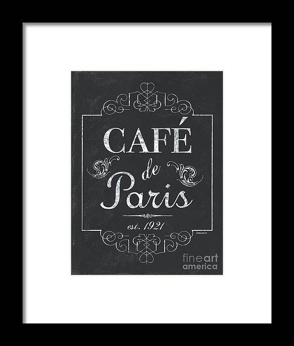 Cafe Framed Print featuring the painting Le Petite Bistro 3 by Debbie DeWitt