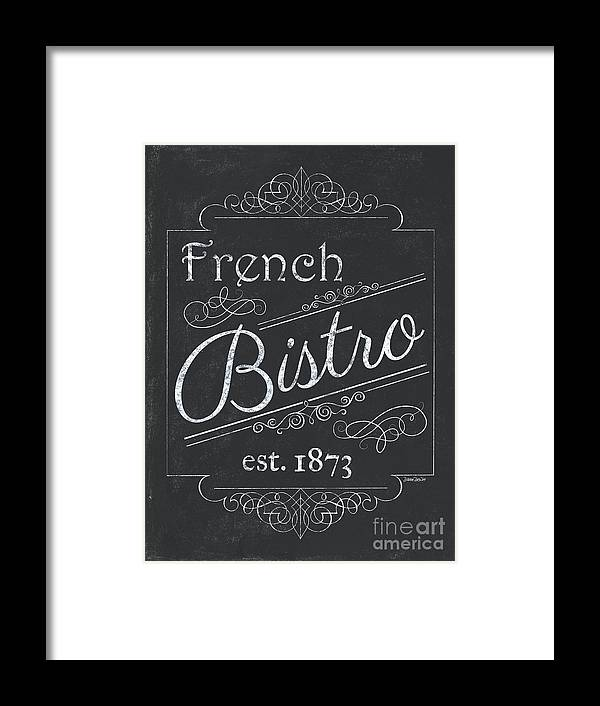 Cafe Framed Print featuring the painting Le Petite Bistro 4 by Debbie DeWitt