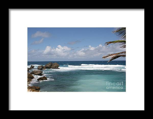 Barbados Framed Print featuring the photograph Lead Me To The East Coast by Alisha Robertson