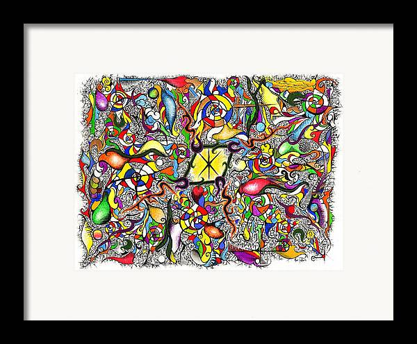Colorful Framed Print featuring the painting Lead Salad by Nathaniel Hoffman