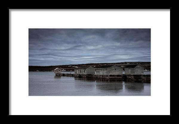 Canada Framed Print featuring the photograph Leaden Sky Over Shacks by Linda Cullivan