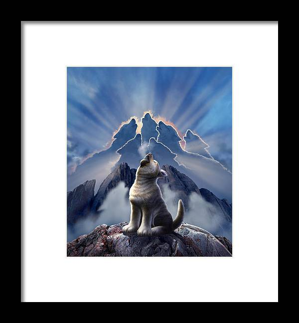 Wolf Framed Print featuring the digital art Leader of the Pack by Jerry LoFaro