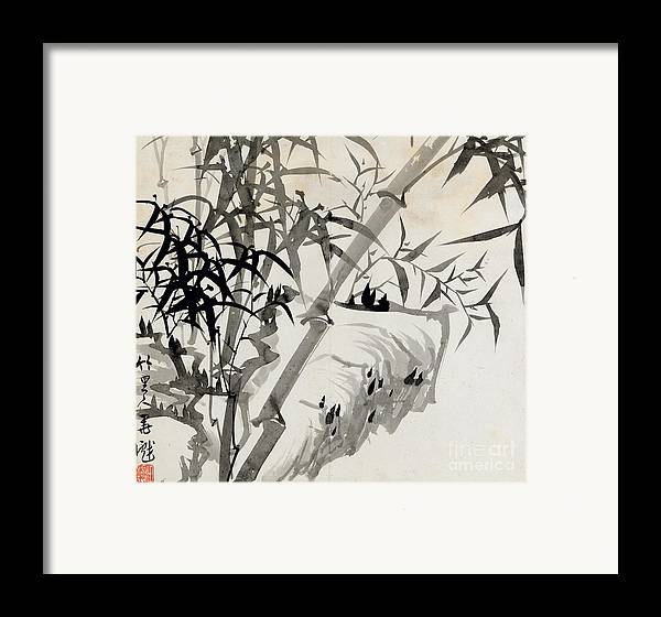 Leaf Framed Print featuring the painting Leaf C by Rang Tian