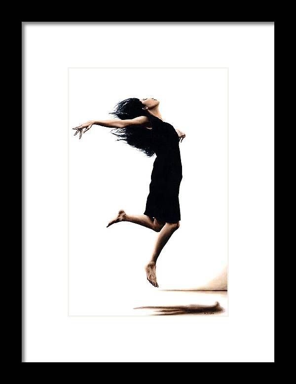 Ballet Framed Print featuring the painting Leap into the Unknown by Richard Young