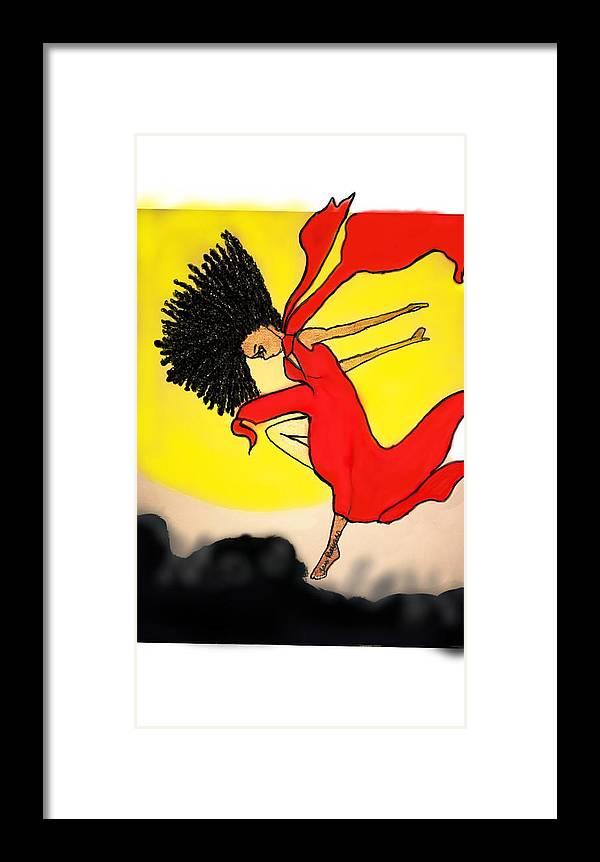 Framed Print featuring the mixed media Leap Of Faith by Tara Rocker
