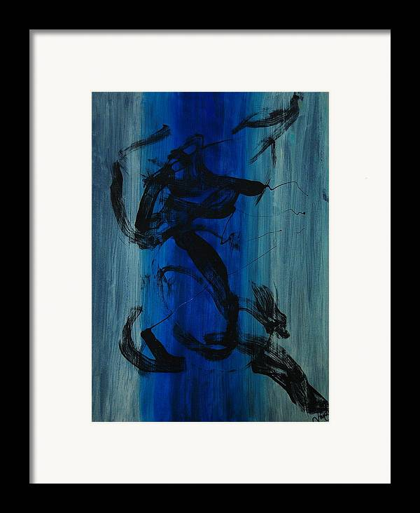Acrylic Framed Print featuring the painting Leap Of Love by Lauren Luna