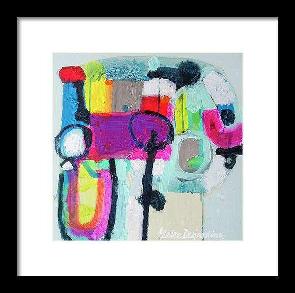 Abstract Framed Print featuring the painting Learner's Permit by Claire Desjardins