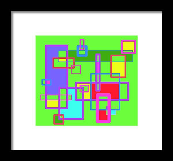 Learning Framed Print featuring the digital art Learning Complex by Jeff Gater