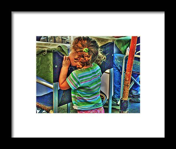 Child Framed Print featuring the photograph Learning by Francisco Colon