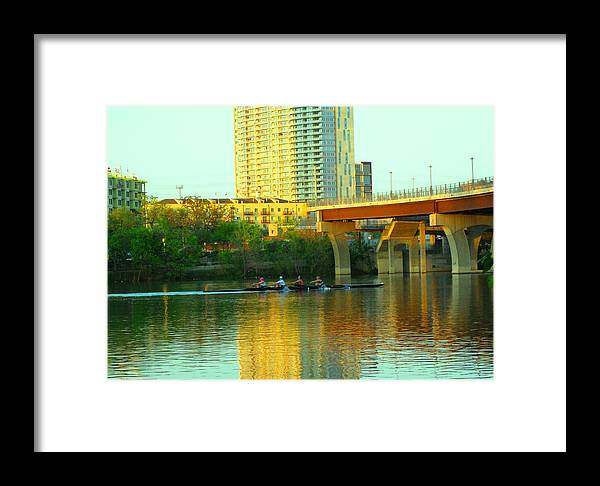 River.austin Framed Print featuring the photograph Leasure by Diana Moya