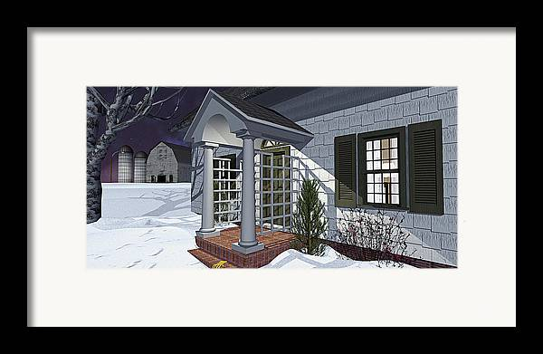 Porch Framed Print featuring the photograph Leave The Porch Light On by Peter J Sucy
