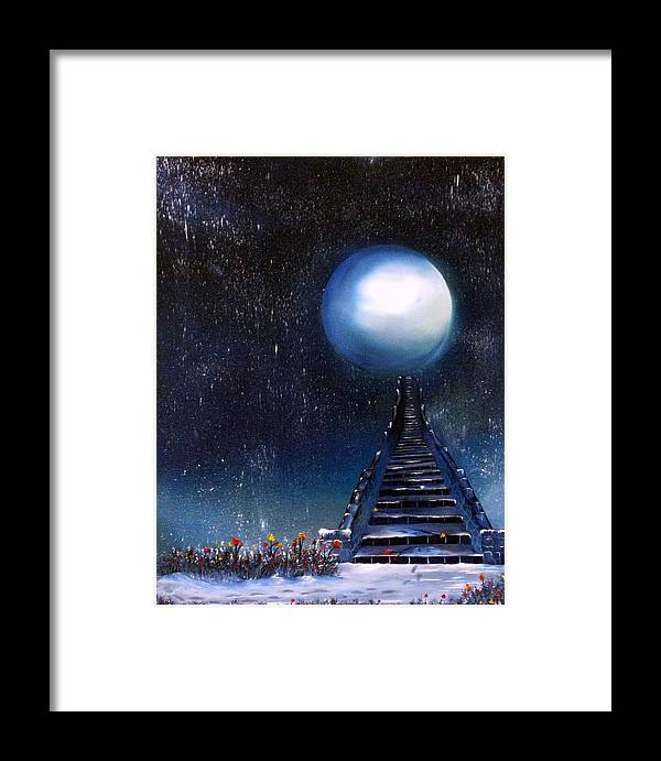 Snow Framed Print featuring the painting Leave Your Trail by Tara Baden