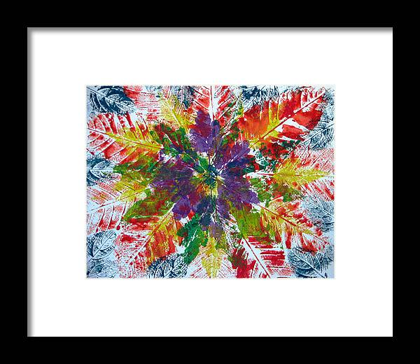 Leaves Framed Print featuring the painting Leaves Alone by Libby Cagle